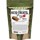 Cheap Ketogenic Pet Foods – KETO-TREATS (Quail) – High Protein, High Fat, Low Carb, Starch-Free Dog and Cat Treats – 4.9 Ounce Bag