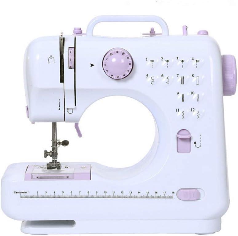 Máquina de coser multifuncional de punto de costura de 12 puntos Máquina de coser portátil de doble línea Pedal de punto de reversa de dos velocidades Lámpara de mesa: Amazon.es: Hogar