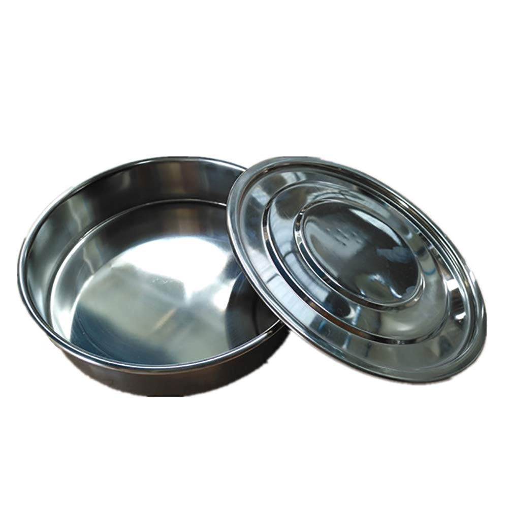KimLab ISO3310 STD Test Sieve Catch Pan and Lid, Stainless Steel 200mm Diameter by KimLab