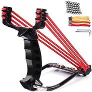 edealing Professional Slingshot Set, Wrist Rocket Hunting Y Shot Slingshot, Strong Folding Powerful Catapult +