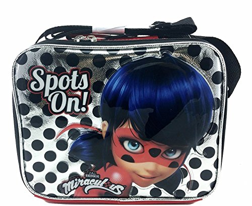 Nickelodeon Miraculous Ladybug Silver Insulated Lunch Bag