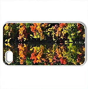 Autumn reflections - Case Cover for iPhone 4 and 4s (Lakes Series, Watercolor style, White)