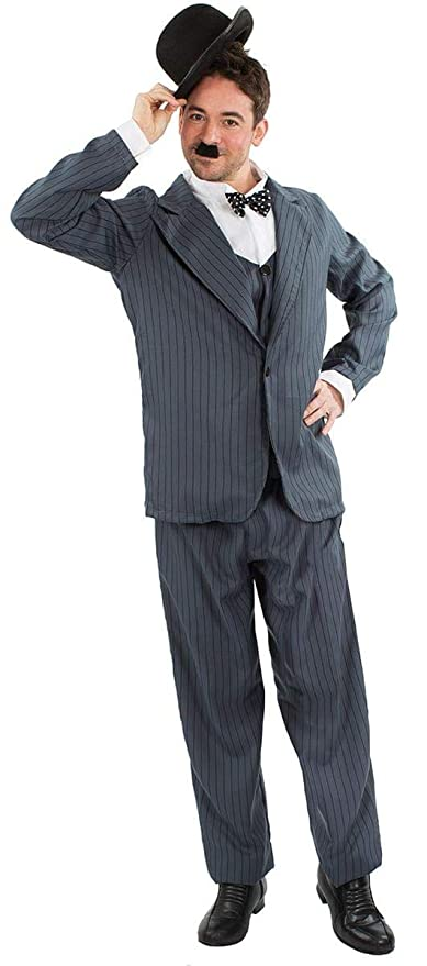 1920s Men's Costumes: Gatsby, Gangster, Peaky Blinders, Mobster, Mafia Orion Costumes Mens Stan Laurel Oliver Hardy Movie Film Fancy Dress Costume $62.85 AT vintagedancer.com