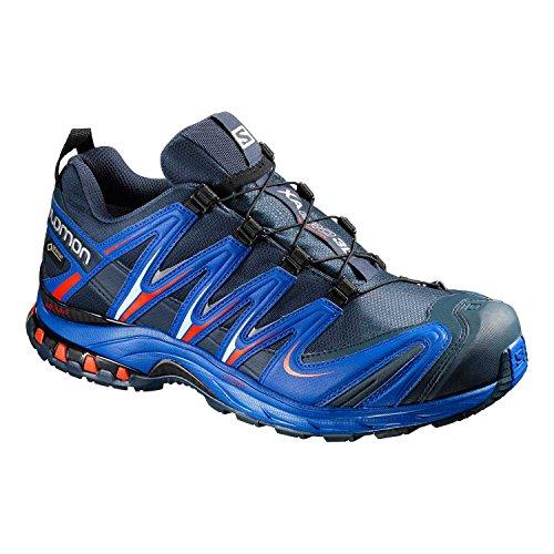 Salomon Herren Trail Running Schuhe XA Pro 3D GTX Deep Blue/Blue Yonder/Lava Orange 46