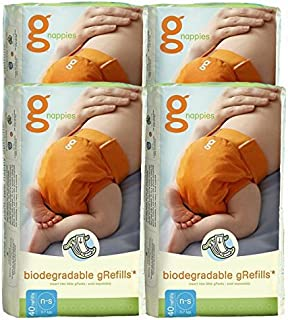 gdiapers Oferta: 4 paquetes de 40 – Pañales Biodegradables NEWBORN/Small – A 100