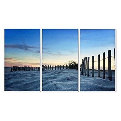 Stupell Decor Sand Dune Fence At Sundown Wall Plaque - Set of 3