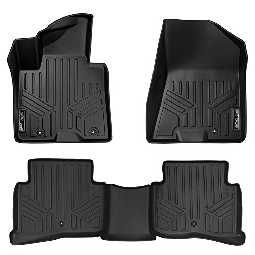MAX LINER A0244/B0206 Custom Fit Floor Mats 2 Row Liner Set Black for 2017-2019 Kia Sportage (Best Selling 3 Row Suv)