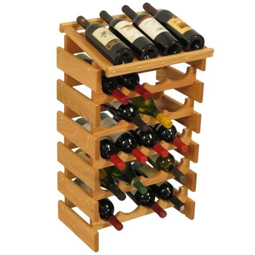 20-Bottles Wine Rack by Wooden Mallet