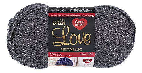 Red Heart With Love Metallic Yarn,  (Metallic Crochet)
