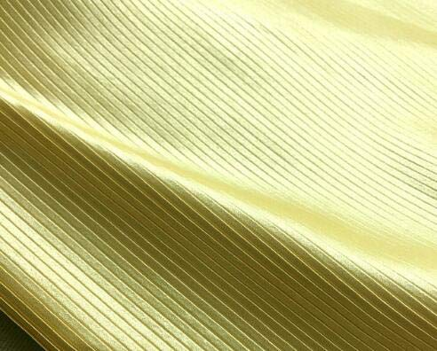Pukido 1psc Pressed Crushed Imitated Silk Satin Pleated Fabric Clothing Pure Color Pinstripe Dress Cloth - (Color: 7)