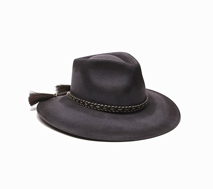 771b18865 'ale by alessandra Women's Roxy Dene Distressed Felt Hat with Horse Tail  Trim