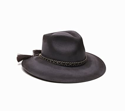 ale by alessandra Women s Roxy Dene Distressed Felt Hat with Horse Tail  Trim 9194472ce17