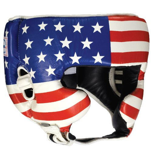 Ringside Competition Boxing Headgear with Cheeks (Usa Flag, Small)