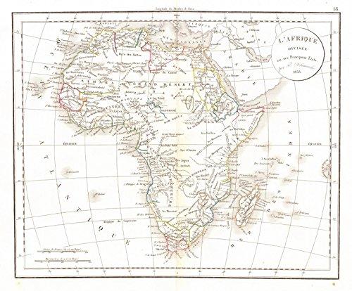 Historic Map | 1834 L'Afrique | Delamarche, (Delamarche Map)