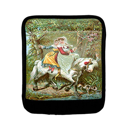 Womans Riding A Horse Vintage Perfume Luggage Handle Wrap Finder by Style in Print