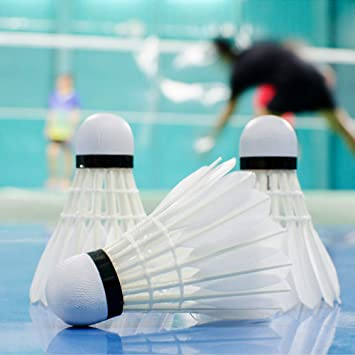 Badminton Birdies White Outdoor Training Badminton Plastic High Speed Shuttlecocks with Great Stability and Durability ONWRACE 3Pcs Windproof Badminton Balls