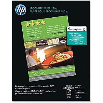Amazon Com Hp Brochure Paper Glossy 8 5x11 150 Sheets