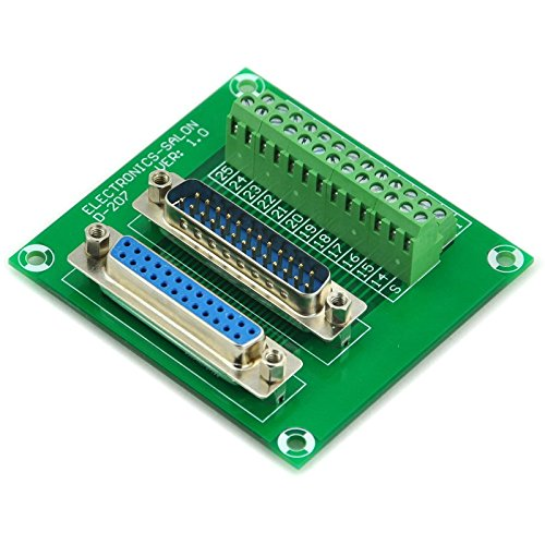 Electronics-Salon D-SUB DB25 Male / Female Header Breakout Board, DSUB Terminal Block, Connector.
