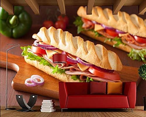 YUANLINGWEI Pan 3D Sandwich Ham Tomatoes Mural De Comida Para ...