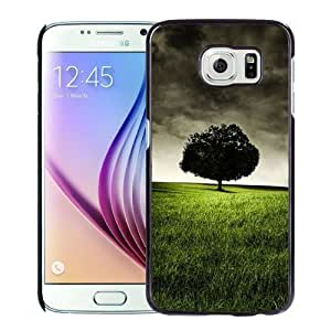 NEW Unique Custom Designed Samsung Galaxy S6 Phone Case With Lonely Tree On Hill_Black Phone Case