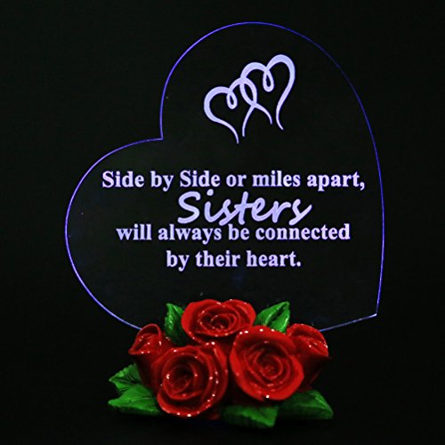 Giftgarden LED Gifts for Sisters Christmas Gift for Special - In Heart My Etched