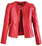 Product review for Papijam Womens Casual Zipper Faux Leather Biker Moto Bomber Jackets