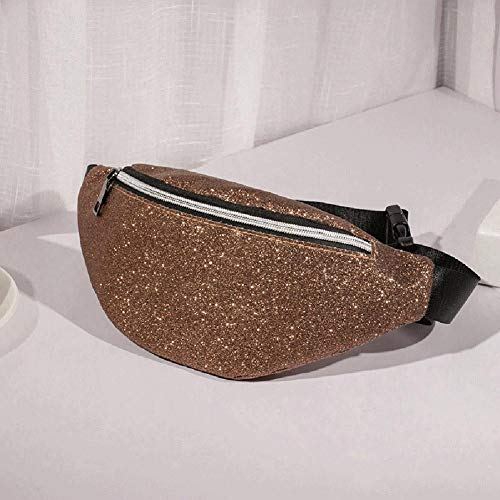 Crossbody Chest Waist Fashion Sequins Brown Fanny Women Light Bags Shoulder Packs Hobos Diamondo zSOB1ZqZ