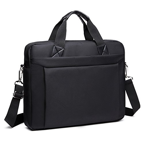 Briefcase Bag 15.6 Inch Business Office Laptop Messenger Bag for Men Women, Waterproof Oxford Fabric Shoulder Bag fit for laptop Notebook (Oxford Leather Cell Phone Case)