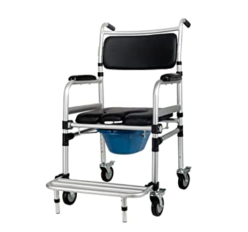 MEYLEE Healthcare YC7800J Wheeled Commode - Over Toilet Chair with ...