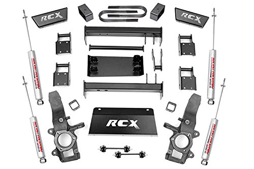 Rough Country - 476.20 - 4-5-inch Suspension Lift Kit (4-inch Rear Blocks) w/ Premium N2.0 Shocks for Ford: 97-03 F150 4WD, 04-04 F150 Heritage 4WD