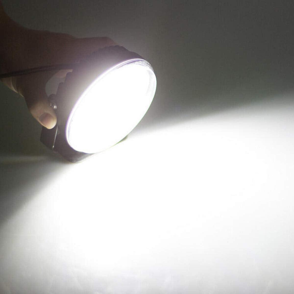 VAWAR Daytime Running Lights Round COB LED DRL Bright White 6000K 12V//24V 8W CE