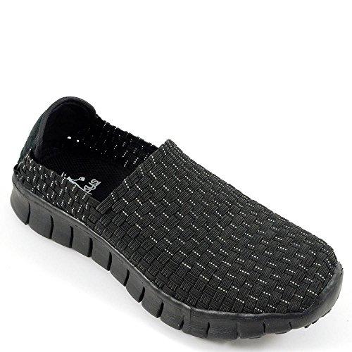 New Corkys Womens Joann Slip Ons Black  Size 9