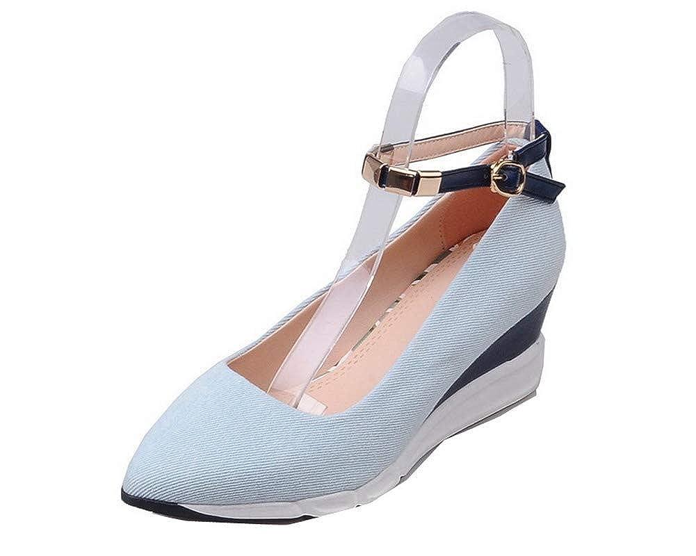 AgooLar Femme Boucle Toile à Bleu Talon Clair Correct AgooLar Couleur Unie Chaussures Légeres, GMBDB013296 Bleu Clair 439f8f3 - reprogrammed.space