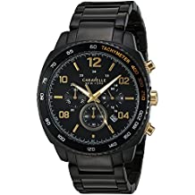 Caravelle New York Men's Quartz Watch with Stainless-Steel Strap, Black (Model: 45B146
