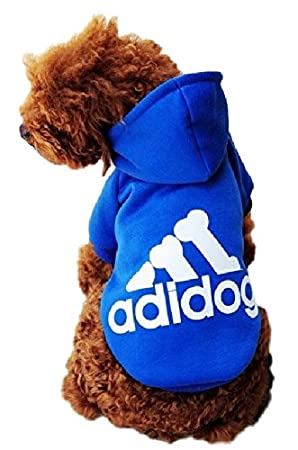 Ducomi Adidog Sudadera con Capucha para Perros en Algod/ón Suave Costuras Resistentes 5XL, Gris Se env/ía Desde Espa/ña Disponibles de XS a 8XL