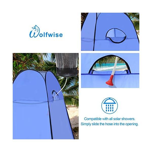 51SRafpLyGL Wolfwise Pop up Toilettenzelt Umkleidezelt, Camping Duschzelt Outdoor Mobile Toilette Umkleidekabine Lagerzelt