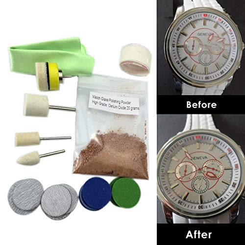 Lysee OSSIEAO New Watch Glass Polishing Kit Glass Scratch Removal Set Acrylic Sapphire Crystal
