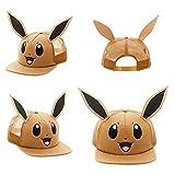 Innex Pokemon Eevee Big Face Trucker Baseball Snapback Hat with Ears