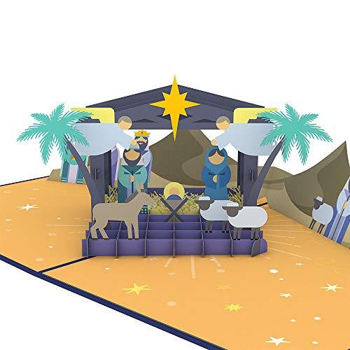 Lovepop Nativity (New) Pop Up Card - Christmas Pop Up Card, Greeting Cards, 3D Cards, Pop Up Christmas Cards, Holiday Cards, Religious Christmas Card, Merry Christmas Card (Religious Merry Christmas)