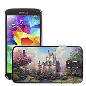 Hot Style Cell Phone PC Hard Case Cover // M00045477 cinderella's kinkade by artistic // Samsung Galaxy S5 i9600