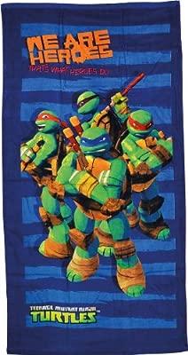 Unitedlabels 0810701 Turtles - Toalla de Playa, 150 x 75 cm, diseño de Las Tortugas Ninja