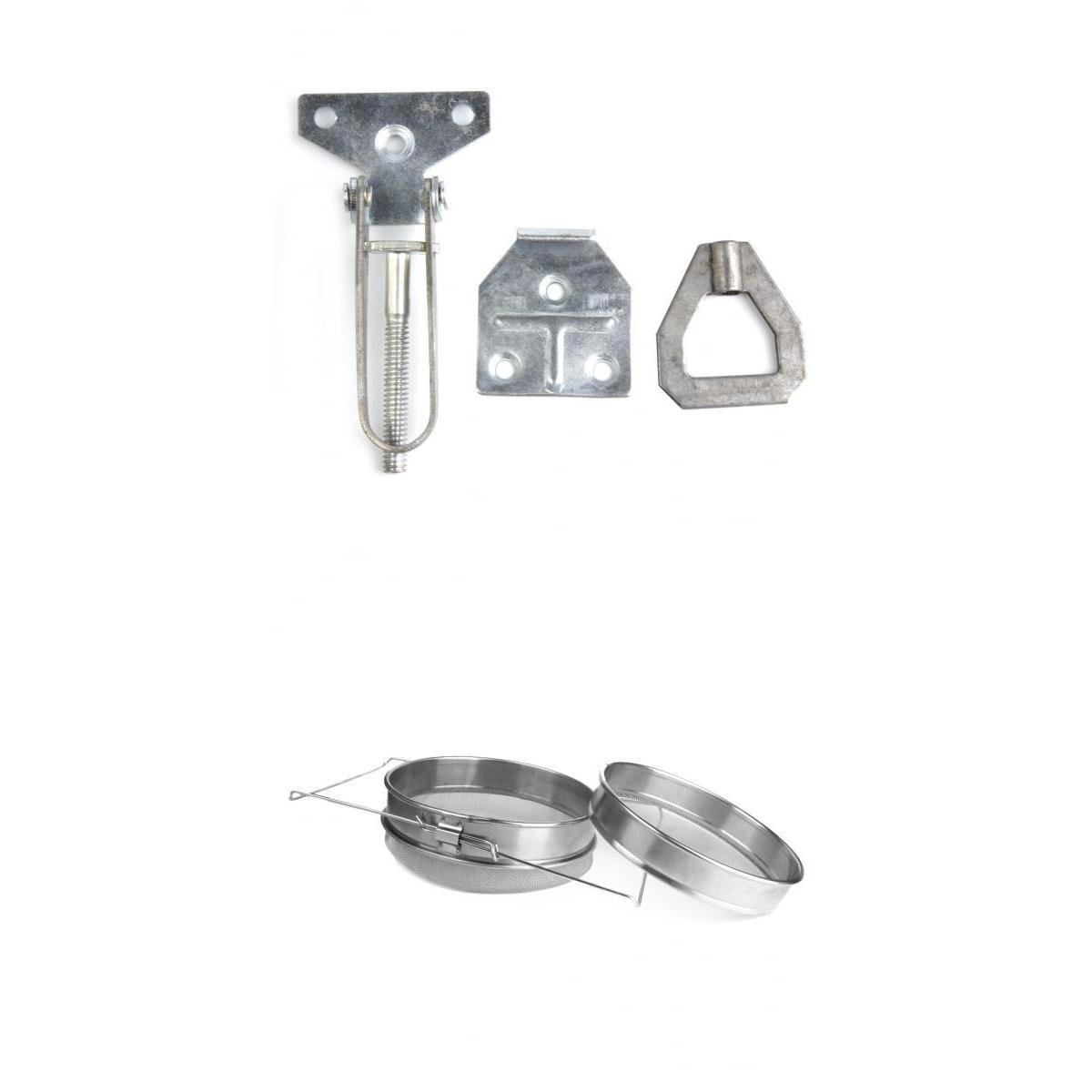 MagiDeal Beekeeping Hive Fasteners Set Package Double Honey Strainer Filter Stainless Steel Heavy Duty