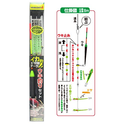 ヤマシタ イカ釣・エサ巻テーラ ウキ釣セット M3の商品画像