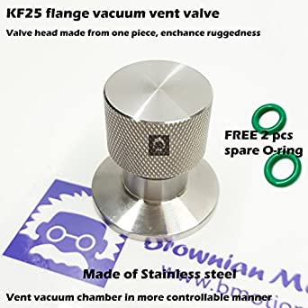 /_BMT/_ Stainless steel KF40 flange vacuum vent valve Up-to-air valve for vacuum break in controllable manner