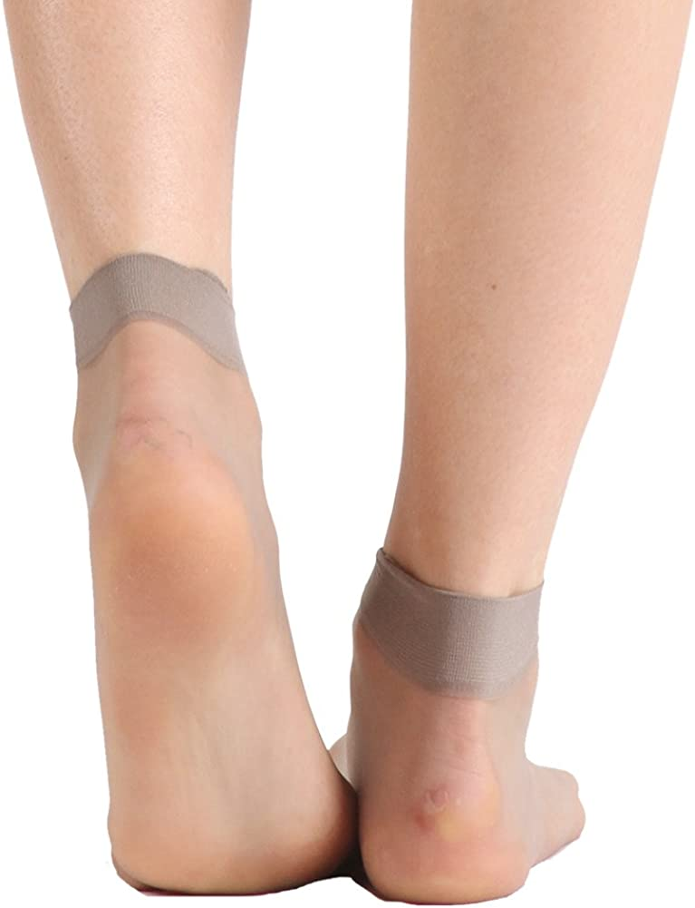 INCHER Womens Socks High Ankle 20 Pairs Soft Support Pantyhose Ankle High Tights Hosiery Short Socks Sheer Ankle Height Socks Women Girl