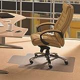 Cleartex Advantagemat, PVC Clear Chair Mat, for Plush Pile Carpets (over 3/4''), Rectangular with Lip, Size 48'' x 60'' (FR1115240LV)