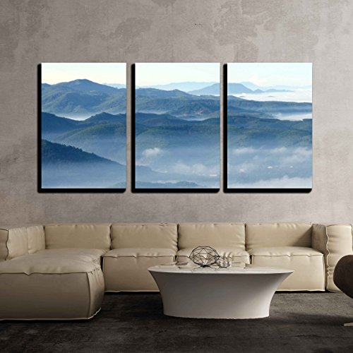 wall26 - 3 Piece Canvas Wall Art - Khohong Hill,Hatyai,Songkhla Thailand - Modern Home Decor Stretched and Framed Ready to Hang - 16