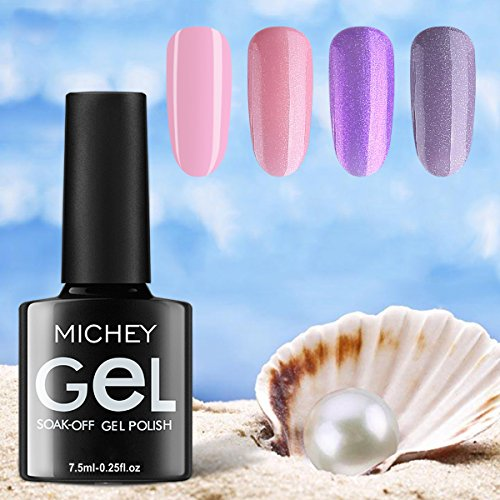 MIYOUNE Gel Nail Polish Set Nude Glitter Collection Colors w