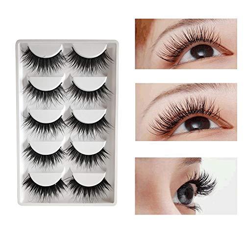 Euone  False Eyelashes, 5 Pair Party False Eyelashes Lashes Voluminous HOT Eye Lashes