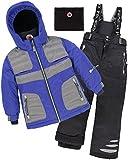Deux par Deux Boys' 2-Piece Snowsuit Off The Mark Blue, Sizes 5-14 - 12